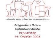Bibel & Wein am 14.10.2021 in Stegmaiers Besen